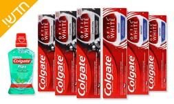6 משחות שיניים ומי פה Colgate