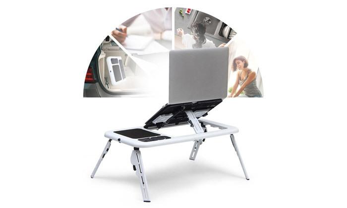 2 שולחן לפטופ מתקפל עם רגליים מתכווננות