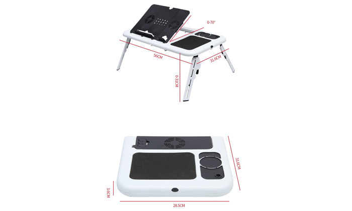 3 שולחן לפטופ מתקפל עם רגליים מתכווננות