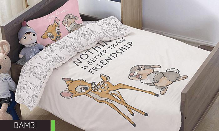 15 דיל לזמן מוגבל: סט מצעי Disney למיטת מעבר HOMESTYLE - דגמים לבחירה
