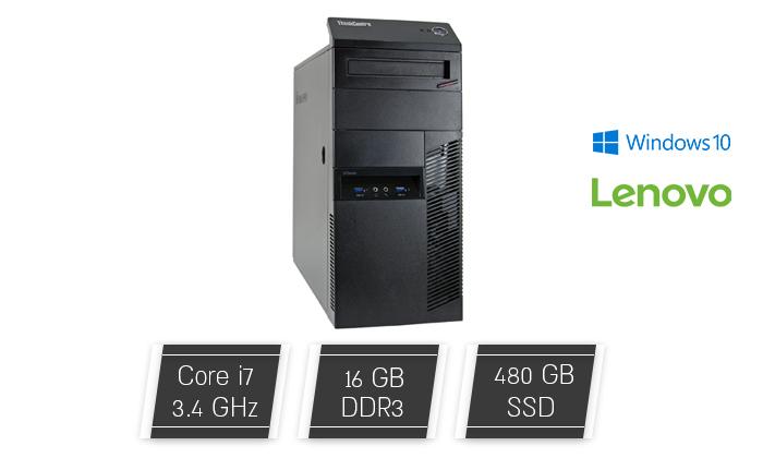 2 מחשב נייח מחודש Lenovo דגם M93P מסדרת ThinkCentre עם זיכרון 16GB ומעבד i7