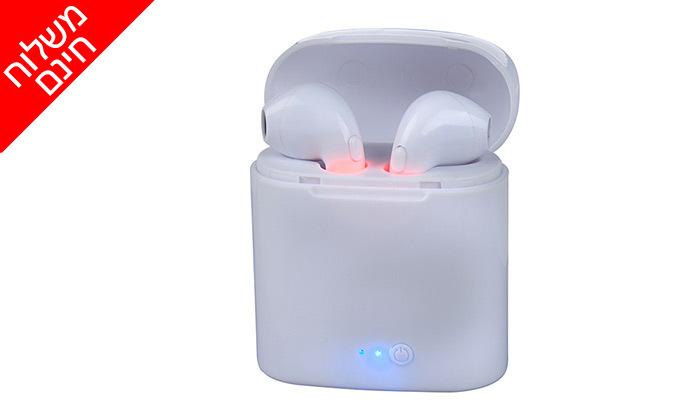 2 אוזניות אלחוטיות סטריאופוניות EarBuds i12-mini- משלוח חינם