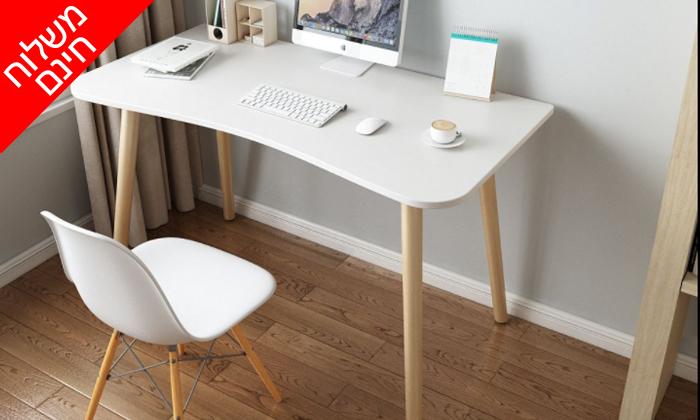 6 שולחן מחשב BELLWORKS כולל מטען אלחוטי - מידות לבחירה ומשלוח חינם