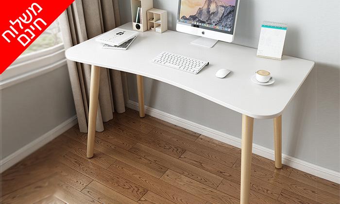 3 שולחן מחשב BELLWORKS כולל מטען אלחוטי - מידות לבחירה ומשלוח חינם
