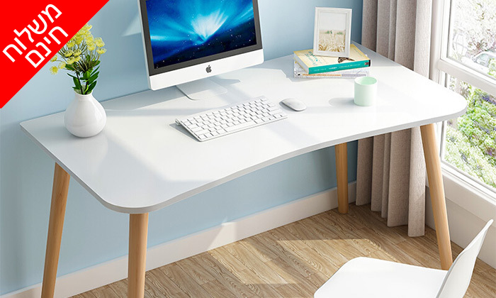 2 שולחן מחשב BELLWORKS כולל מטען אלחוטי - מידות לבחירה ומשלוח חינם