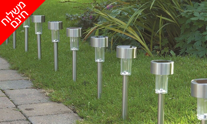 6 מארז 10/20 יחידות דוקרני תאורה מנירוסטה - משלוח חינם