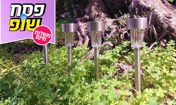 5 מארז 10 דוקרני תאורה מנירוסטה - משלוח חינם