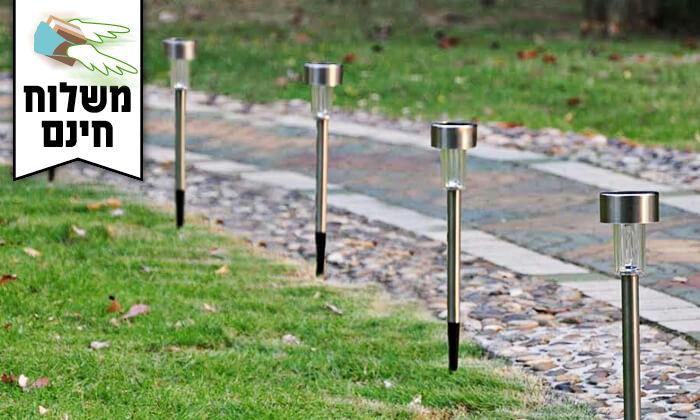 4 מארז 10 דוקרני תאורה מנירוסטה  - משלוח חינם