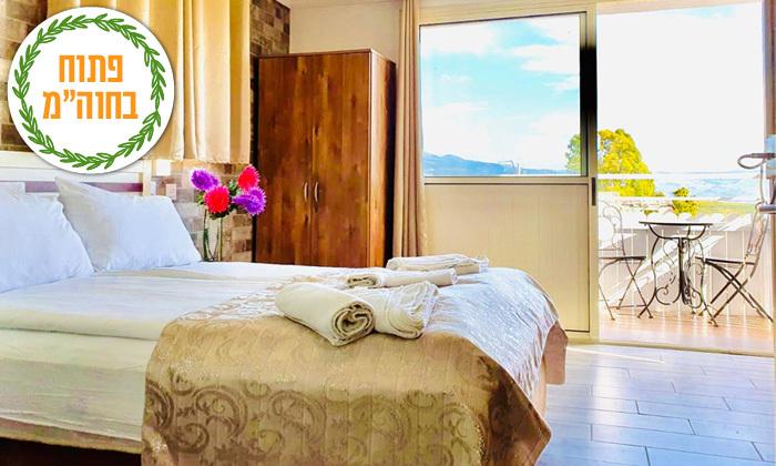 3 ספטמבר-אוקטובר במלון גלילי במטולה: לינה וארוחת בוקר במלון אלסקה אין