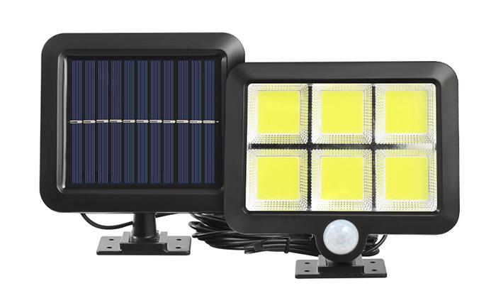 2 פרוז'קטור LED סולארי עמיד במים עם כבל 5 מטר