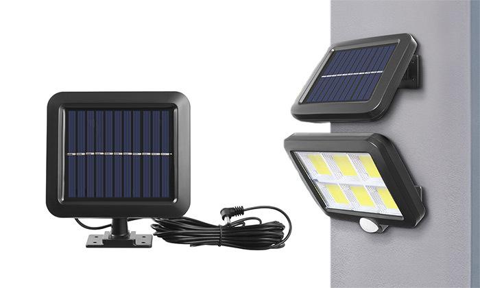 4 פרוז'קטור LED סולארי עמיד במים עם כבל 5 מטר