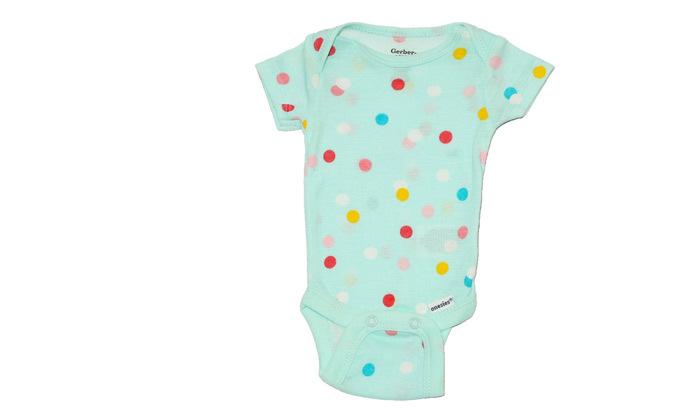 7 14 בגדי גוף קצרים לתינוקות Gerber - צבעים לבחירה