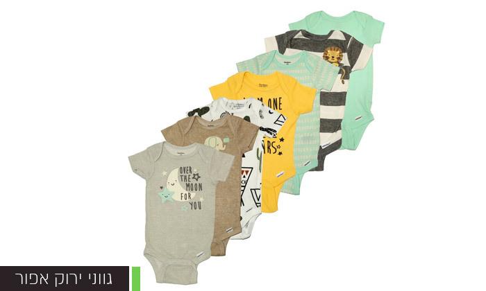 4 14 בגדי גוף קצרים לתינוקות Gerber - צבעים לבחירה
