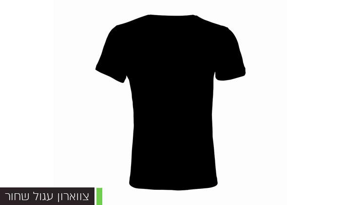 7 מארז 10 חולצות טי שירט 100% כותנה לגברים - צבעים לבחירה