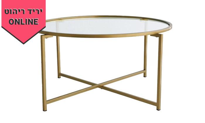4 שולחן קפה דגם בייסיק עם משטח זכוכית