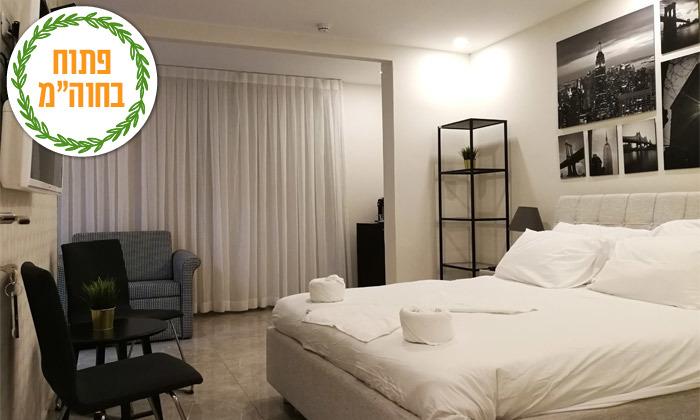3 נופש בכנרת: לילה במלון לאגו עם ארוחת בוקר וכניסה לחמי טבריה, גם בסוכות