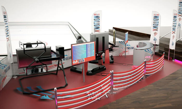 4 סימולטור XMOTION במרכז מסחרי ספירל, אילת