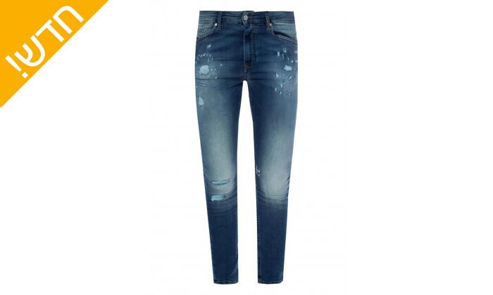 3 מכנסי ג'ינס לגבריםדיזל DIESEL דגםSPENDER-NE בצבע כחול