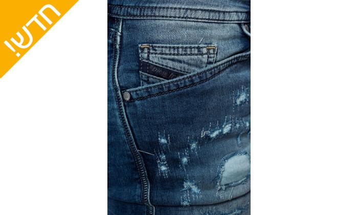 5 מכנסי ג'ינס לגבריםדיזל DIESEL דגםSPENDER-NE בצבע כחול