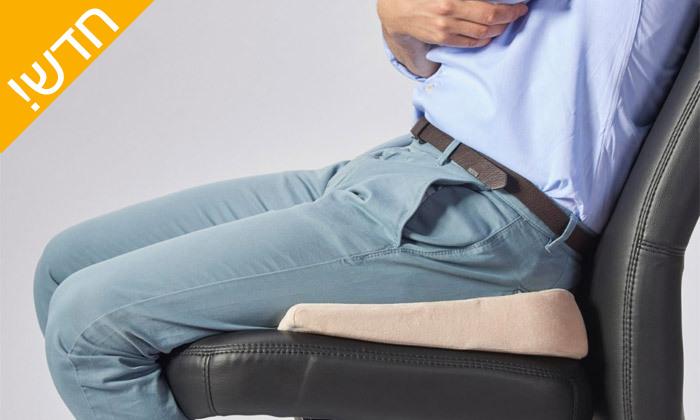 """3 ד""""ר גב: כרית ישיבה אורתופדית לאזור האגן והגב התחתון"""