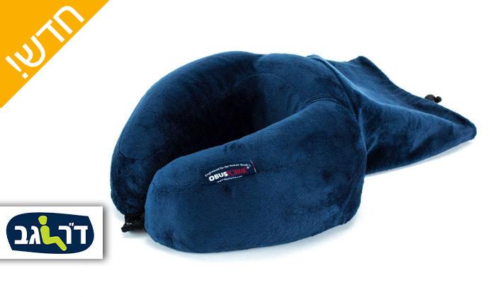 2 כרית תמיכה לצוואר OBUSFORME דגם Roll Up Ultra Comfort Travel