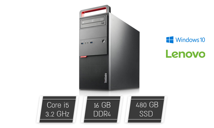 2 מחשב נייח מחודש Lenovo דגם M900 מסדרת ThinkCentre עם זיכרון 16GB ומעבד i5