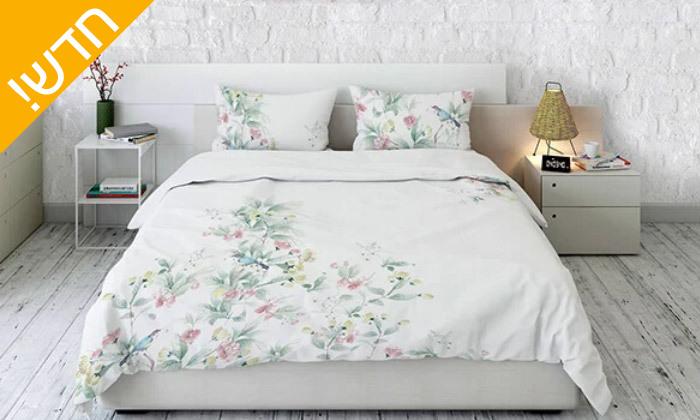2 סט מצעים 100% כותנה למיטה זוגית, דגם ליליאן