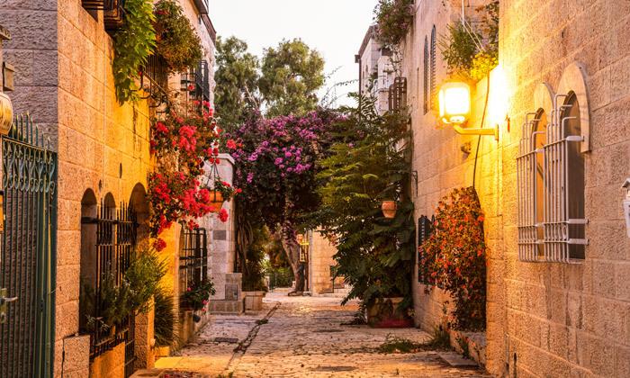 """8 לילה לזוג במלון הבוטיק אייל בלב ירושלים, אופציה לסופ""""ש ע""""ב חצי פנסיון"""