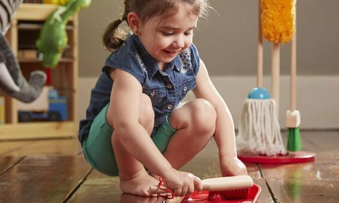 5 ערכת כלי ניקוי צעצוע מעץMelissa & Doug