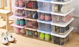 10 קופסאות לאחסון נעליים
