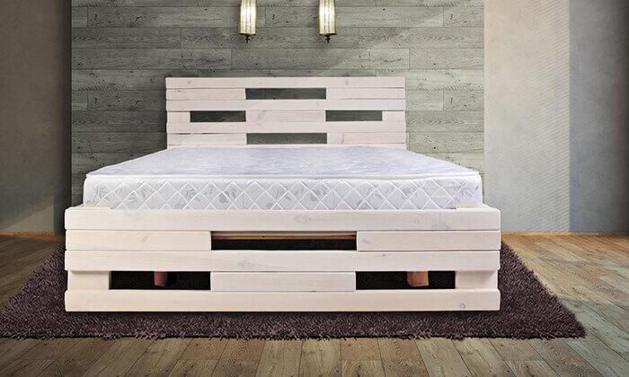 2 מיטה מעץ מלא