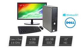 מחשב Dell עם מסך, מקלדת ועכבר