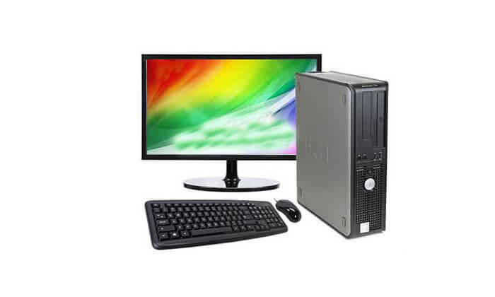 3 מחשב נייח מחודש DELL דגם 755 מסדרתOptiPlex עם זיכרון 4GB ומעבד Intel Core 2 Duo
