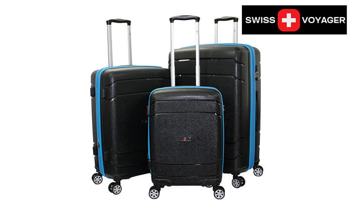 10 סט מזוודות SWISSקשיחות