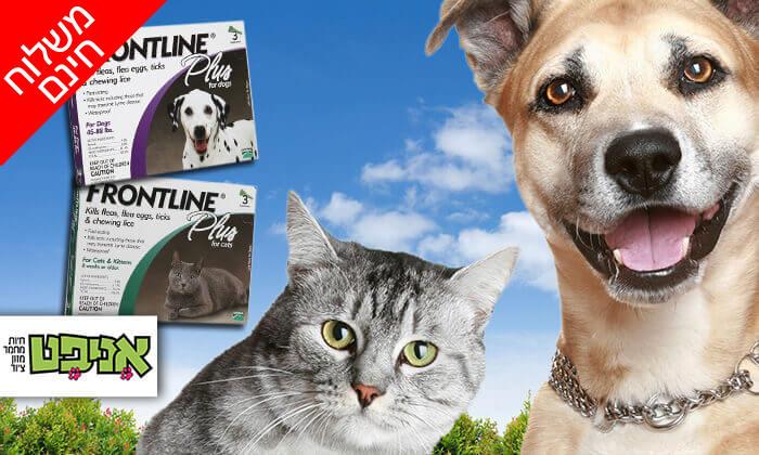 2 אמפולות פרונטליין פלוס לחתולים או לכלבים - משלוח חינם