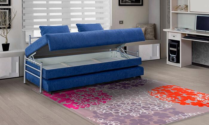 6 מיטת נוער נפתחת הכוללת ארגז מצעים