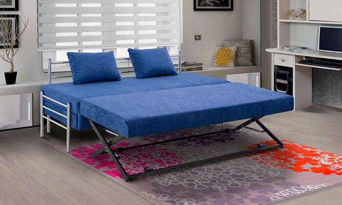 4 מיטת נוער נפתחת הכוללת ארגז מצעים