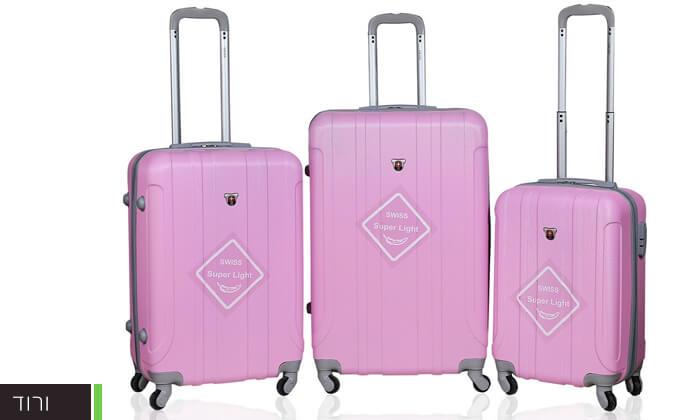 5 מזוודות SWISS קשיחות
