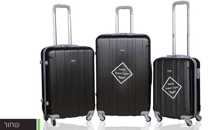 8 מזוודות SWISS קשיחות