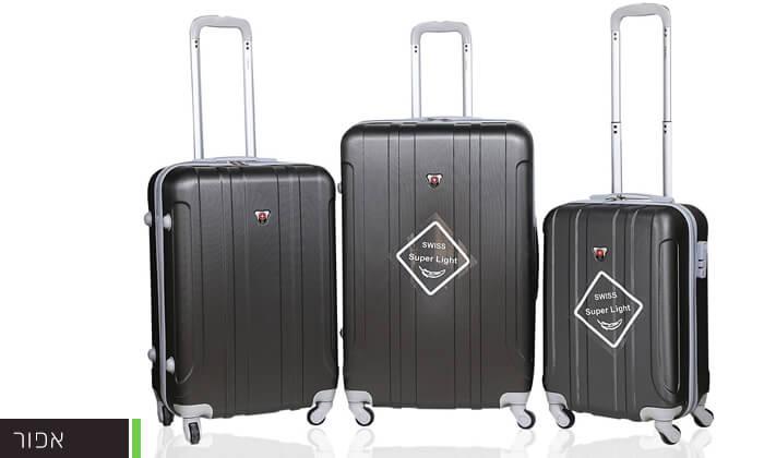 9 מזוודות SWISS קשיחות