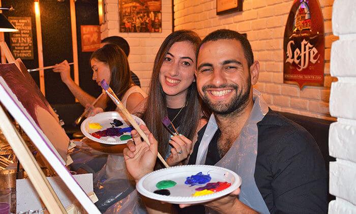 3 כרטיס לאירוע פיינט פאב - ערב ציור בברים בתל אביב