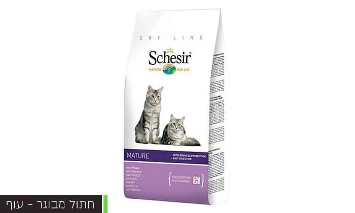 4 שק מזון schesir לחתולים