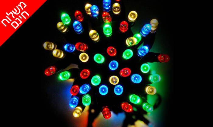 8 שרשרת נורות LED סולאריות - משלוח חינם