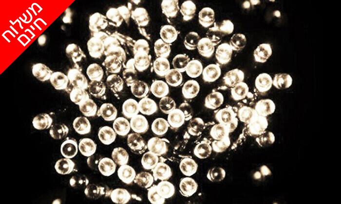 10 שרשרת נורות LED סולאריות - משלוח חינם