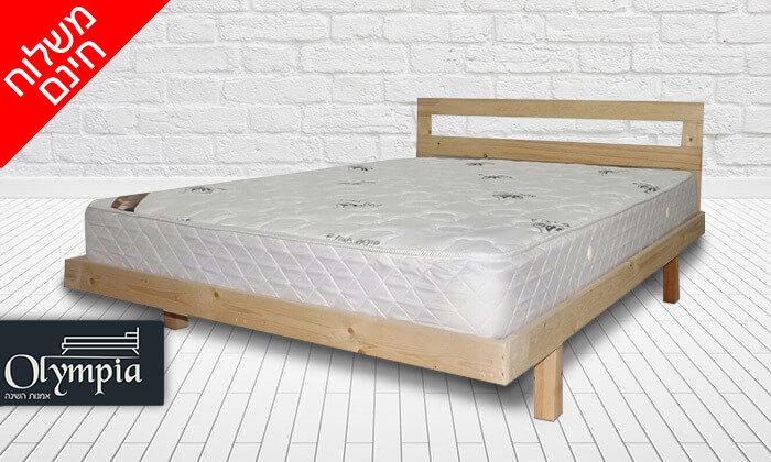 2 בסיס מיטה ומזרן זוגי - הובלה והרכבה חינם