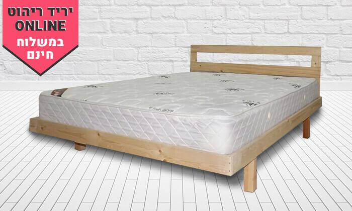 3 בסיס מיטה ומזרן זוגי - הובלה והרכבה חינם