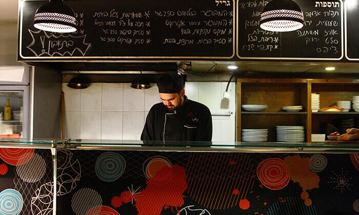4 ארוחת המבורגר זוגית במסעדת בולמוס הכשרה