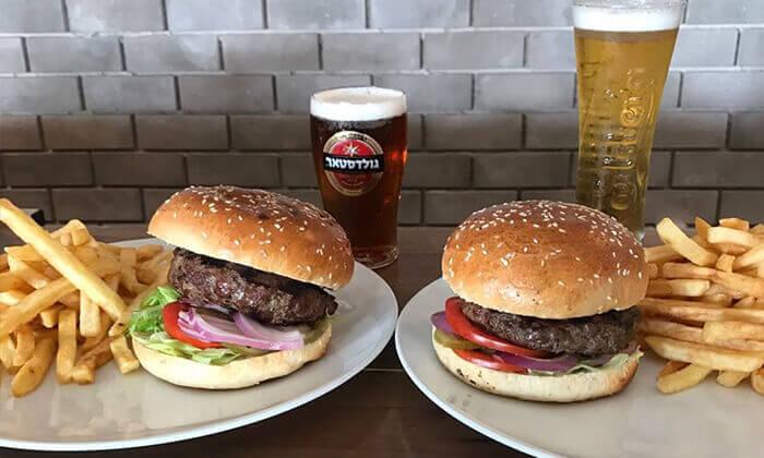 5 ארוחת המבורגר זוגית במסעדת בולמוס הכשרה