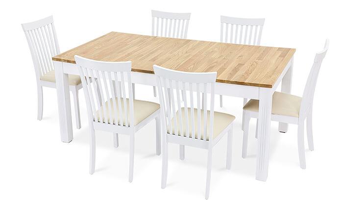 7 שמרת הזורע: פינת אוכל עם כיסאות