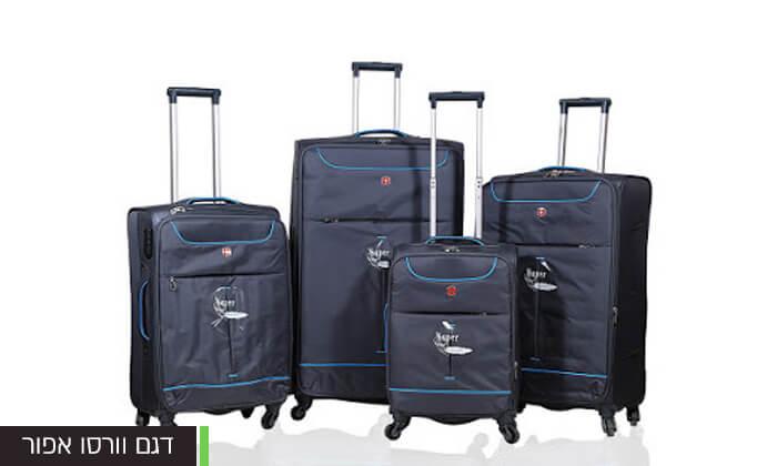 6 מזוודות SWISS בגדלים שונים